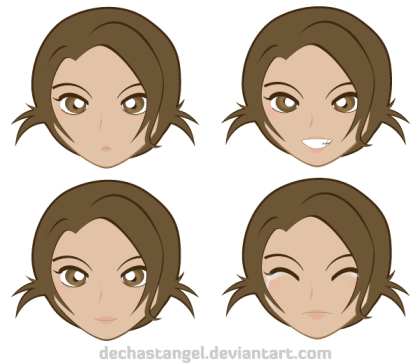 Free Manga Emoticon Vector