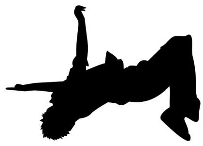 Man Doing a Backflip Vector Art Image