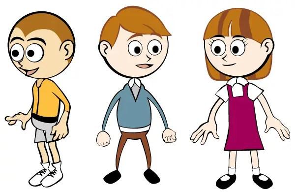 Free Cartoon Children Vector Art