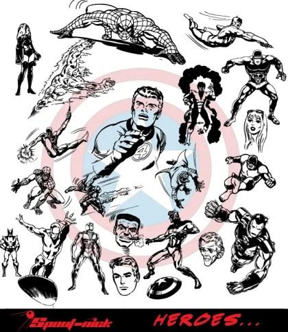 Super Heroes vectors