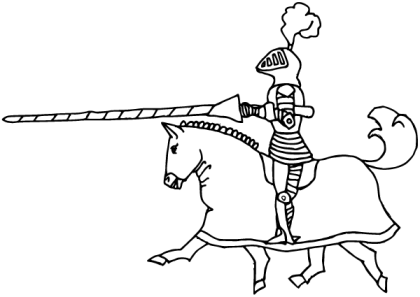 Medieval Knight on Horse Vector Image