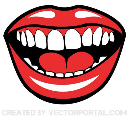 Smiling Mouth Free Vector Image