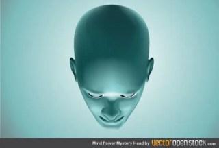 Mind Power Mystery Head Vector Image