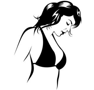 Beautiful Girl In Bikini Vector Image