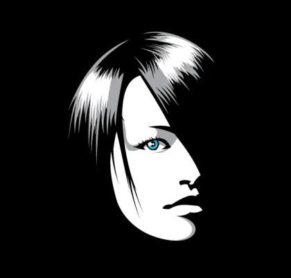 Beautiful Girl Face Illustrator