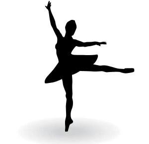 Ballerina Silhouette Vector Clip Art