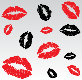 Lip Kiss Vector Images