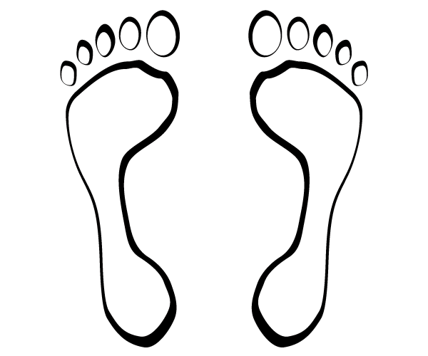 footsteps vector clip art 123freevectors rh 123freevectors com footsteps clipart black and white footsteps clip art free