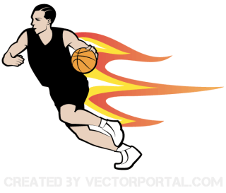 Basketball Player Vector Art