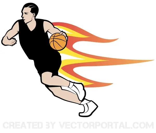 Basketball Player Vector Art
