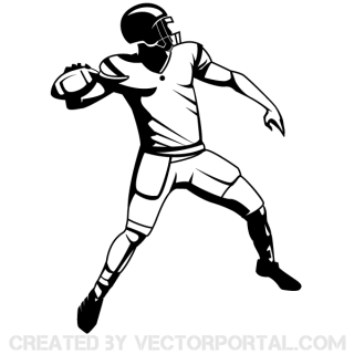 Free Football Player Silhouettes Vector Images