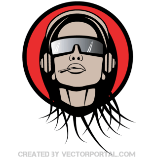 Fashion Girl Wearing Sunglasses Vector Image