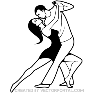 Dancing Couple Clip Art Image