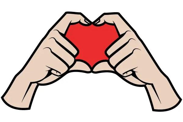 Hands Making a Heart Shape Vector Image