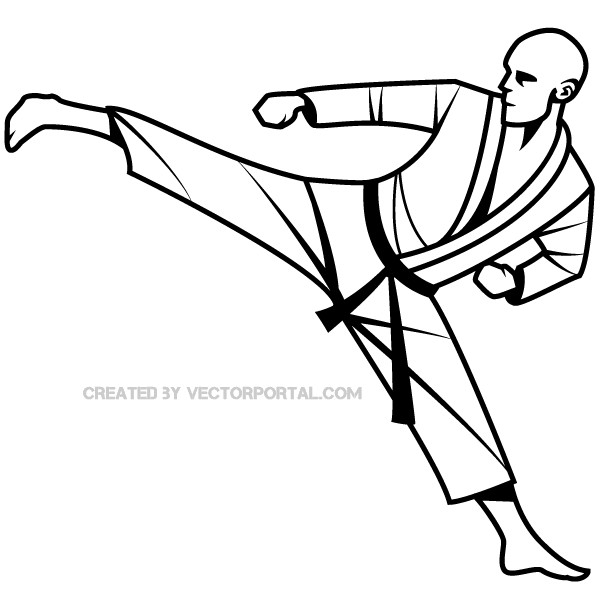Martial Arts Fighter Vector Image