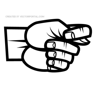 Hand Fig Sign Gesture Vector Clip Art
