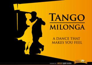 Tango Milonga Dancing Background Vector