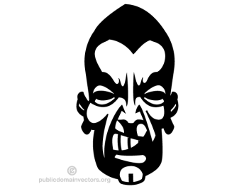 Angry Man Face Vector Image