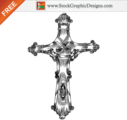 Free Hand Drawn Cross Vector