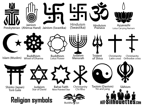 Religion Symbols Vector 123freevectors