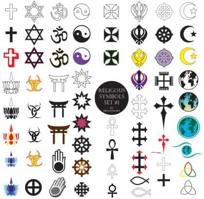 Religious Symbols Free Vector Set