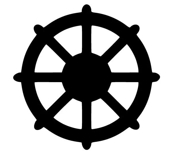Free Vector Dharmachakra Symbol