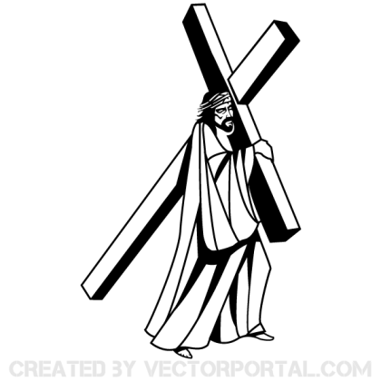 Jesus Christ Carrying the Cross Image