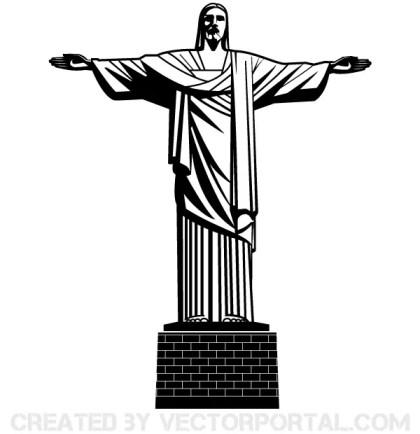 Vector Jesus Christ Statue