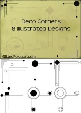 Free Deco Corners Vector Art