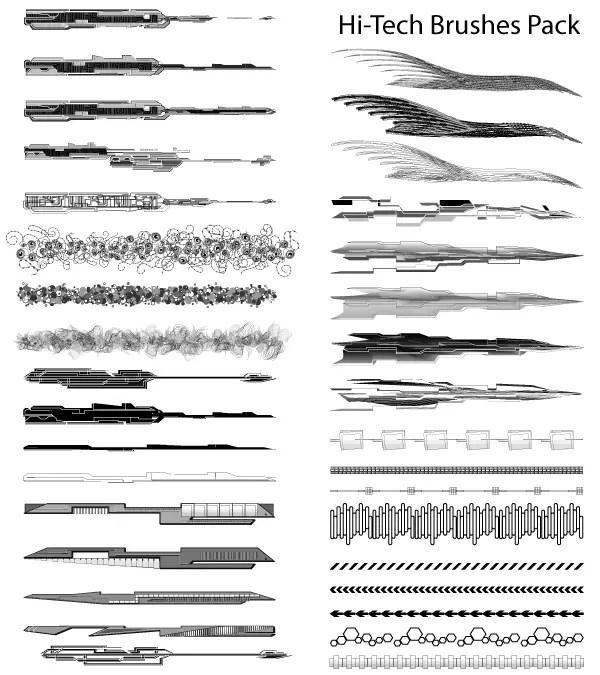 Hi-Tech Vector Illustrator Brushes Pack