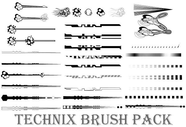 Technix Vector Illustrator Brushes Pack