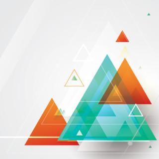 Abstract  Triangle Shapes Vector Design