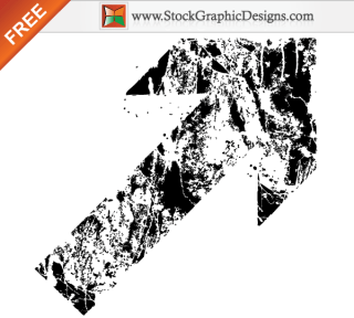 Free Grunge Destroyed Arrow Vector
