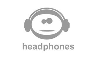 Emoticon with Headphones Logo Vector
