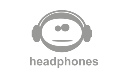 Emoticon with Headphones Logo Vector