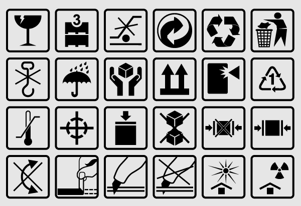 Free Vector Packaging Box Symbols