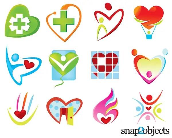 Free Vector Heart Shaped Logo Templates