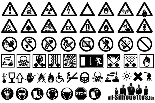 Warning Signs Free Vector