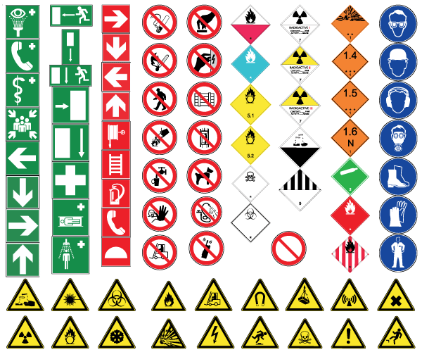 photograph relating to Free Printable Food Safety Signs called Fitness and Security Indications No cost Vector