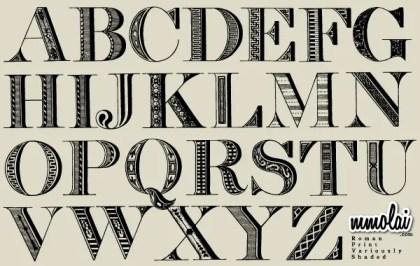 Vector Alphabet Letters Typeface
