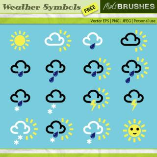 Free Vector Weather Symbols