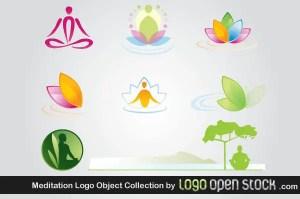 Meditation Logo Design Vector