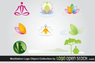 Meditation Logo Design Vector