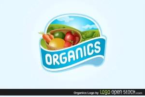 Organics Logo Free Vector