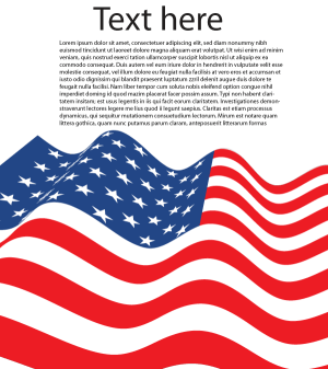 Vector American Flag Letter Size