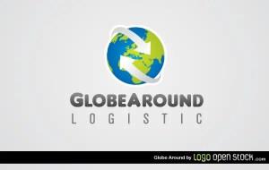 Globe Around Logistics Logo Template