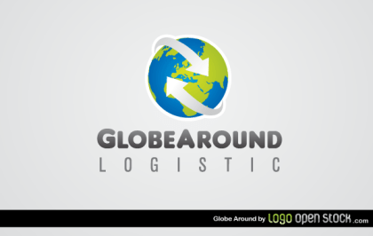 Globe Around Logistics Logo Template