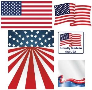 American Flag Vector