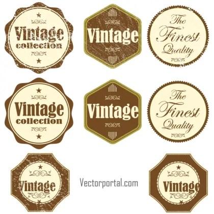 Free Vintage Grunge Vector Stickers