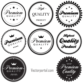 Free Vintage Premium Quality Labels and Stickers Vector